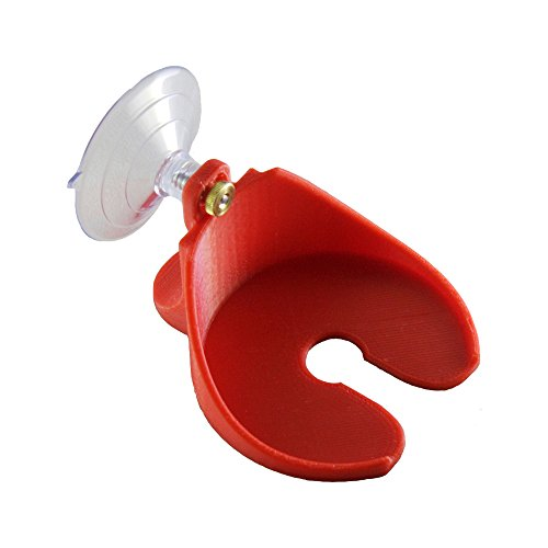 Beer and Wine Glass Holder – For Shower, Bathtub, and Boats – Strong Suction Cup Mount (Red) – Holds Many Different Drinks - Portable For All Situations – Designed and Made in the USA by Free Thought Designs