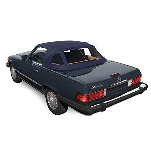 (Mercedes R107 280SL 560SL 380SL 450SL Convertible Soft top 1972-89 BLUE Stayfast Cloth (Blue Stayfast))