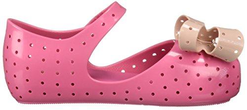 Pictures of Mini Melissa Girls' Mini Furadinha XI Ballet Flat, Pink, 10 Medium US Toddler 3