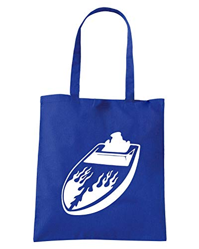 Shopper BOAT Borsa Blu Royal STICKER FUN0828 OdqwHqP1
