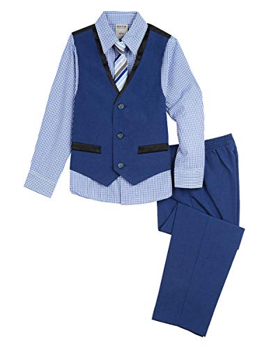 Kenneth Cole Boys' Little 4-Piece Formal Vest Set, Hope Diamond 2T