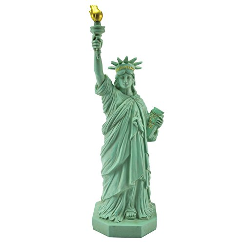 What On Earth Great Places Table Lamp - America's Statue of Liberty, Small Accent Light for Desk - 4