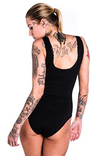 Killstar Okkult Damen Bodysuit Pentagramm Baphomet - Mendes Gothic Body Ärmellos