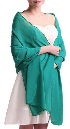 Fashion Scarves Shawls (Alivila.Y Fashion Womens Chiffon Bridal Evening Scarf Shawl-Teal Chiffon)
