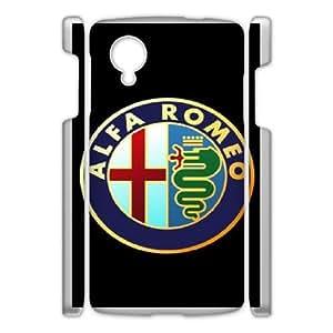 Google Nexus 5 Cell Phone Case White Alfa Romeo Plastic Durable Cover Cases derf6003009