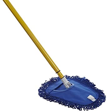 "Impact WDGCOM Microfiber Wedge Complete Mop, 40"" Length x 13"" Height, Blue/Gray/Yellow"