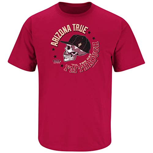 Arizona Baseball Fans. Arizona True 'Til The Day I'm Through. Cardinal T-Shirt (Sm-5X) (Short Sleeve, Medium)