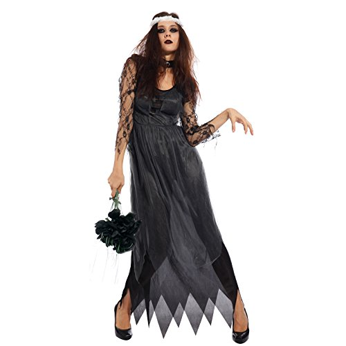 Ladies Halloween Witch Princess Vampire Zombie Bride Corpse Fancy Dress -