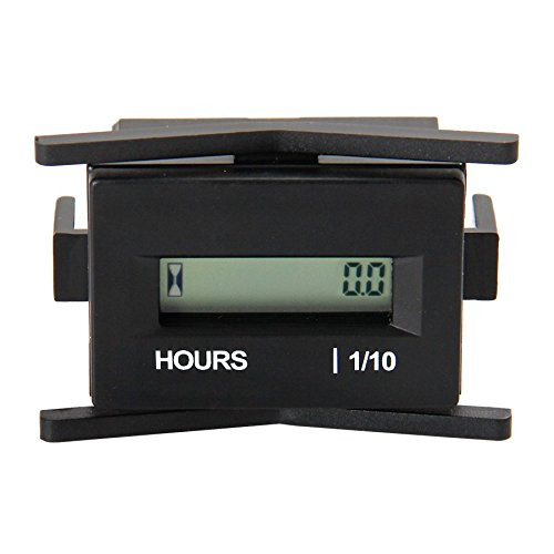 Runleader RL-HM010A (AC86-230V) LCD Hour Heter with Digital Hour Meter for Boat Tractor Generator Engine Mower Fork Light CAT Paramotors Microlights Marine Engines Cleaners and Chainsaws