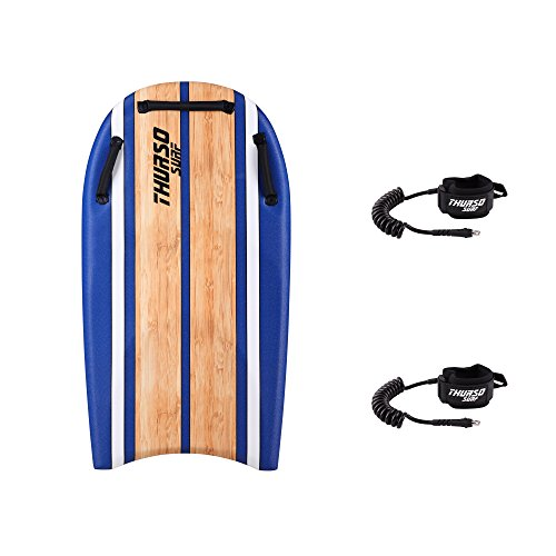 "THURSO SURF DuoSlider 45"" Bodyboard with Handles Two Person EPS Core IXPE Deck HDPE Slick Bottom Includes Two PRO…"