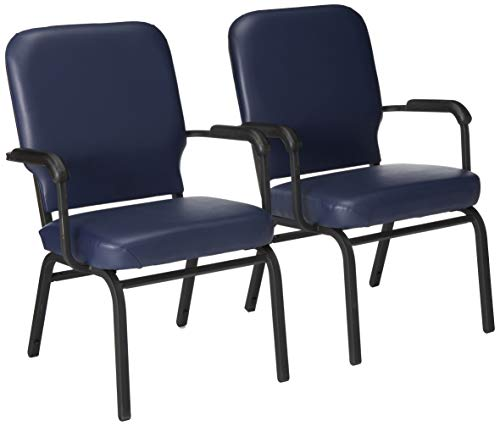 Lorell LLR59599 Fixed Arms Vinyl Oversized Stack Chairs, 15.24