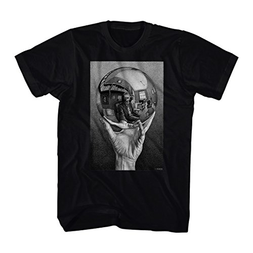 M.C. Escher- Self-Portrait In Spherical Mirror T-Shirt Size XXL - Portrait Lithograph