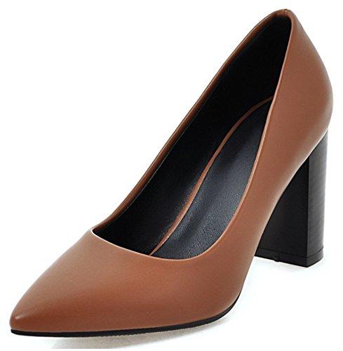 Easemax Women's Elegant High Heels Chunky Pointy Slip On Pumps 41WyrgMXqIL home Home 41WyrgMXqIL