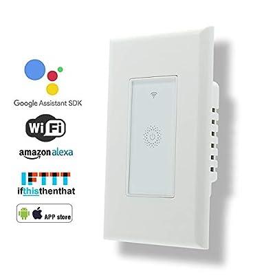 Wifi Smart Light Switch,Work with Alexa,Google Home, Wireless control