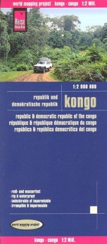 Congo Brazzaville & Democratic Republic of Congo 1:2,000,000 Travel Map, waterproof, REISE, 2012 edition