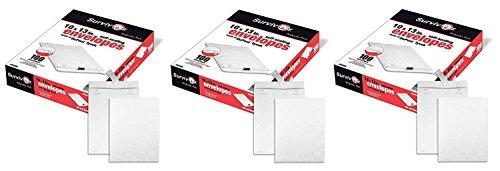 Tyvek 100 Pack Quality Park - Quality Park Survivor R1580 Tyvek Mailer, 10 x 13, White (3 X Pack of 100)