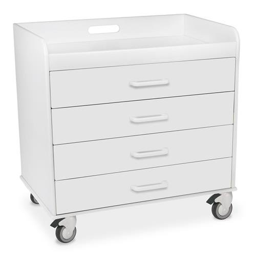 (TrippNT 51361 Polyethylene/ABS Extra Wide Compact Locking Cart, 27