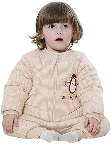 Sac De Couchage Bébé Jambes Coton Automne Et Hiver 0-1 Ans Pyjamas Épais Garçons Et Filles Au Chaud Anti-Coup Est 2.5Tog Belle Couverture De Colis