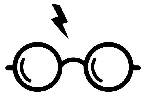 Harry Potter Glasses Sticker Decal Vinyl (5''x4'', Black)