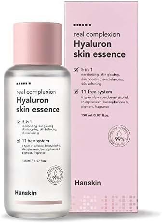 Hanskin Real Complexion Hyaluron Skin Essence - Hyaluronic Acid, Moisturizing, Glowing, Soft & Fragrance-Free. Hanskin Official. [150 ml]