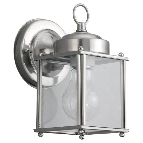 Outdoor Square Wall Lantern in Antique Nickel