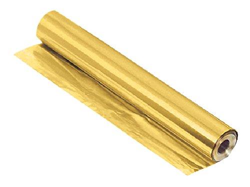 St Louis Crafts 36 Gauge Brass Metal Foil Roll, 12 Inches x 25 Feet