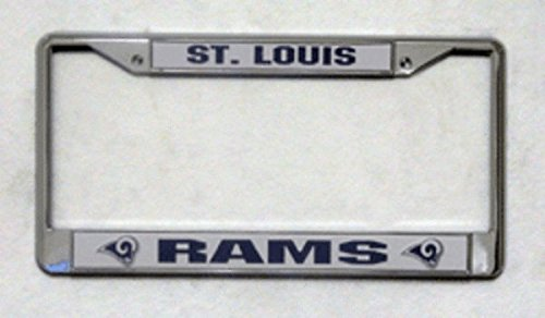 (NFL St. Louis Rams Chrome Licensed Plate)