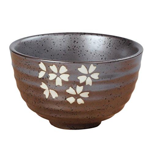 MagiDeal Tea Ceremony Matcha Bowl Green Tea Powder Ceramic Teaware Accessory 4 Patterns - Cherry Blossoms, 11.3x4.8x6.9cm by MagiDeal