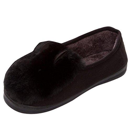 Pantofole Di Cotone Caldo Da Donna Di Binying Nero