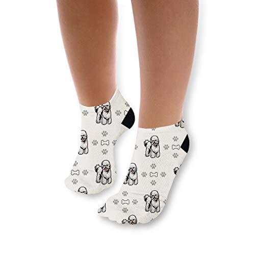 Bichon Frise Dog Bones Paws Pattern Unisex Toddler Baby Ankle Socks Funny Novelty Kids Socks Polyester & Polyester Blend - 3 Pack