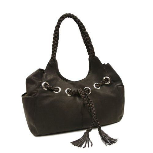Leather Hobo Piel Chocolate Size Braided Saddle One qdqETr