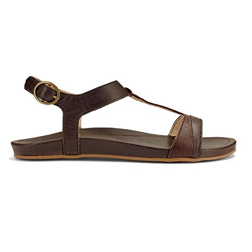 Dark Java OluKai dark Sandal Women's Hiona Leather Java Xq66gwI