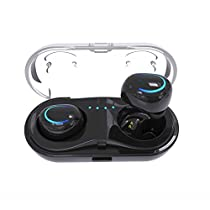 Bluetooth Headphones, Dual Wireless Earbuds True Mini Twins Stereo Bluetooth Headset V4.2+EDR Earphones with Built-in Mic Charging Case for iPhone Samsung iPad (White)