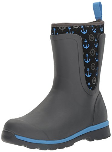 Women's Boots Height Blue Gray Boot Cambridge Anchors With Rain Mid Muck xq16wZAgA
