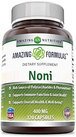 Amazing Nutrition Noni – 400mg Capsules – 120 Capsules Per Bottle Non-GMO,Gluten Free – Made from Tahitian Noni Fruit from The Morinda Citrifolia Plant