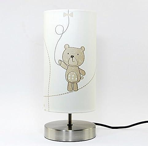Teddy Bear Lamp Light Lampshade With Chrome Base Bedroom Nursery ...