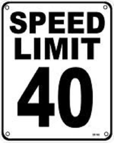 Amazon com : Speed Limit 40 MPH 8''x10'' Metal Novelty Silly
