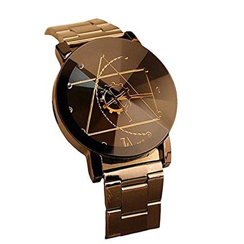 Charberry Men Women Quartz Dial Clock Analog Wrist Watch (Black 2)