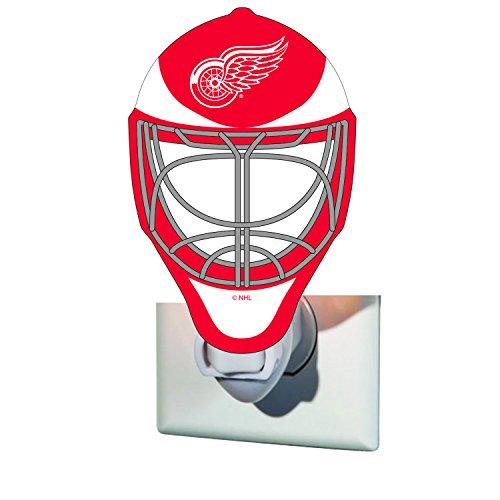 - Team Sports America Detroit Red Wings Goalie Mask Glass Night Light