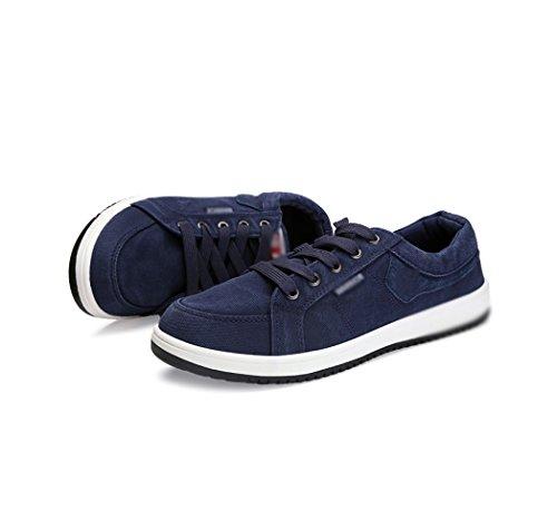 con degli ed selvaggio uomini di scarpe basso tendenza aiutare scarpe casual da per uomo scarpe casual WFL Scarpe tela moda casual Blu estate primavera X00zq8