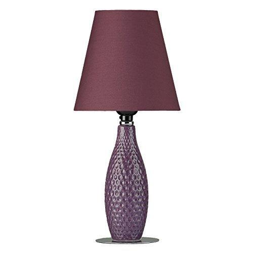 Cortesi Home CH-TL303160 Small Table Lamp, Small, (Desk Lamp Light Purple Body)
