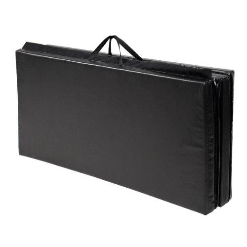 New Black 4'x8'x2'' Thick Folding Panel Gymnastics Mat Gym Fitness Exercise Mat by Yoga Mats (Image #1)