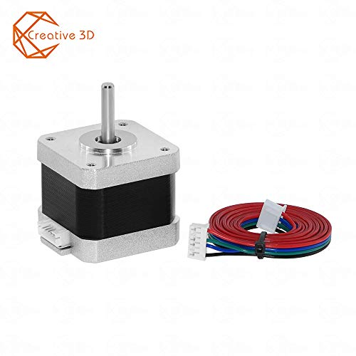 Smooth Step Motor MOONS/' MOONS NEMA17 Stepper Motor 3D printer 0.2Nm 1.5A2Phase 1.8 degree Stepping Motor 25.3mm 28oz-in 1in. Cable00723 include, model MS17HD5P4150