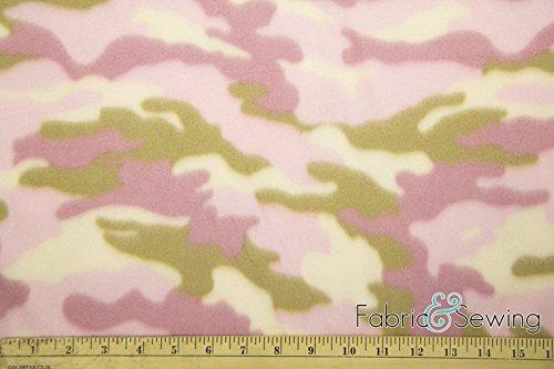 Creative Camouflage Pink Anti-Pill Polar Fleece Fabric Polyester 13 Oz 58-60