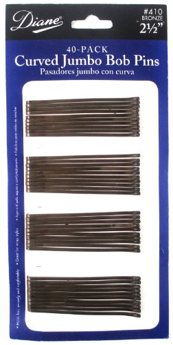 Diane Curved Jumbo Pins Bronze, 40 Count
