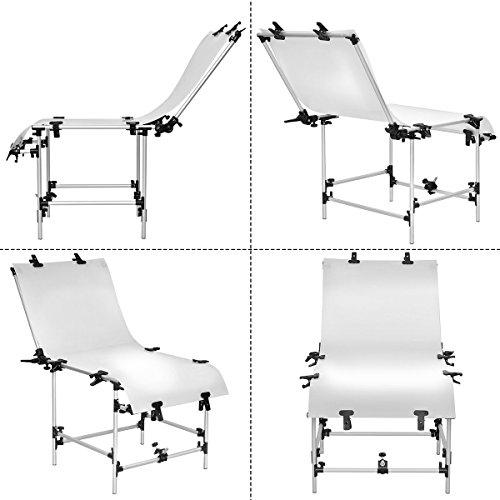 Safstar Photo Shooting Table PVC Board Non-Reflective Photo Studio Bench (23''x51'') by Safstar (Image #2)