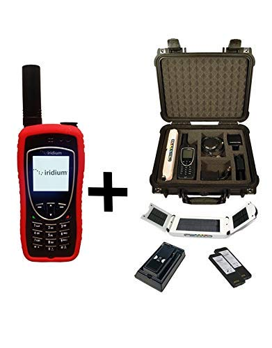 SatPhoneStore Iridium 9575 Extreme Satellite Phone Emergency Responder Package with Pelican Case, Solar Charger, Charging Dock & Prepaid 600 Minute SIM Card Ready for Easy Online Activation
