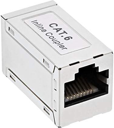 Acoplamiento de Cable de conexi/ón InLine 69990D Cat. 6, 2 Conectores RJ45, apantallado