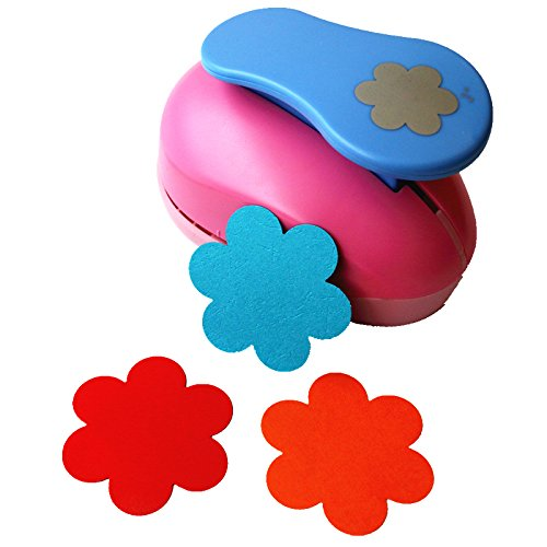 CADY Crafts Punch 3-Inch Paper Punches Craft Punches (Plum - Punch Flower Craft