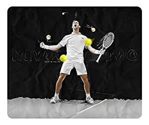 Creative Painting Custom Design Rectangle Mouse Pad Gaming Mousepad Novak Djokovic Going To The Top Rectangle Non-Slip Mousepad Water Resistent Oblong Gaming Mouse Pads by runtopwellby Maris's Diary